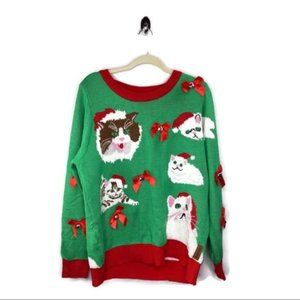Tipsy Elves Jingle Cats Ugly Sweater Size XL